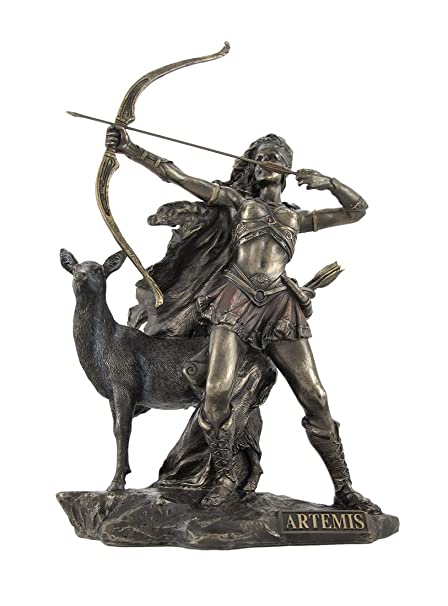 Amazon Bronzed Artemis Goddess Of Hunting And Wilderness Statue