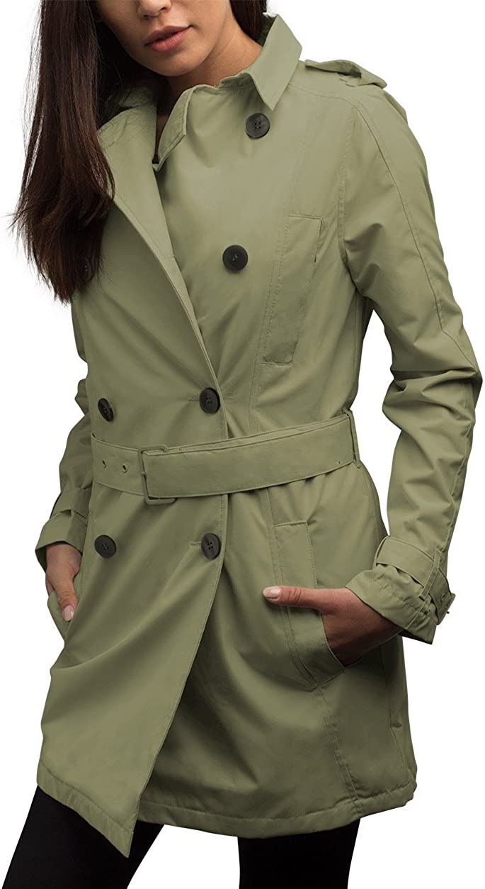 Amazon.com: SCOTTeVEST Women's Trench Coat   18 Pockets   Travel &  Anti-Pickpocket Clothing: Clothing