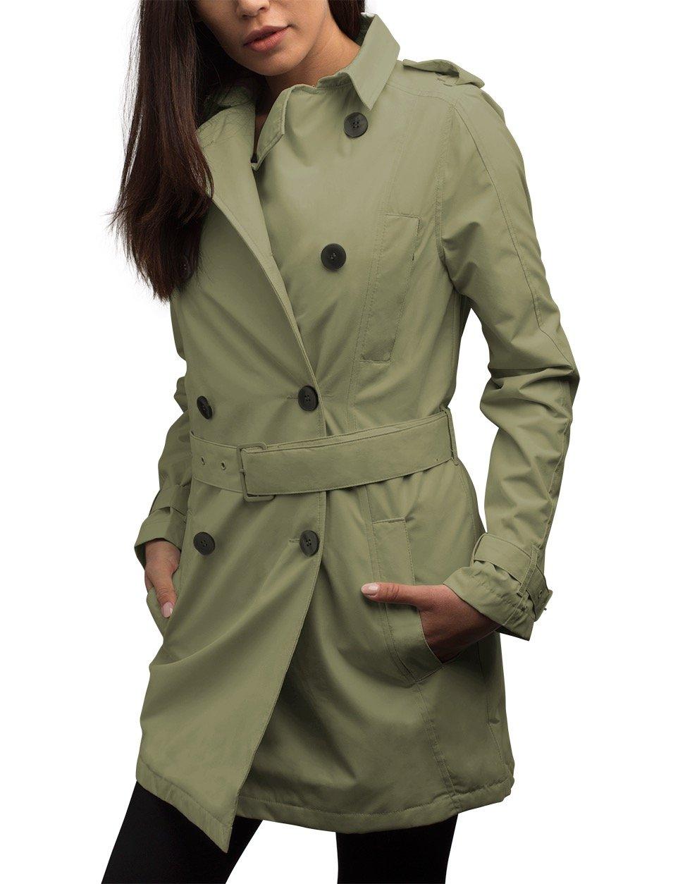 SCOTTeVEST Women's Trench Coat - 18 Pockets - Travel Clothing TYM L