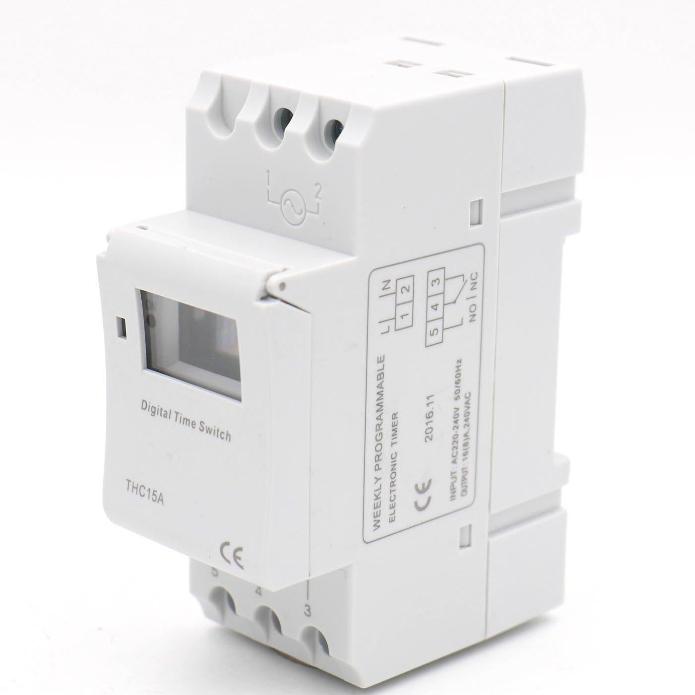 Baomain thc15a ac 220v 240v digital lcd power programmable timer baomain thc15a ac 220v 240v digital lcd power programmable timer time switch relay 16a amp amazon malvernweather Images