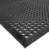 Cactus Mat 2530-C5 Rubber Vip Topdek Molded Bevel Edge Mats Junior Version, 3' x 5', Black