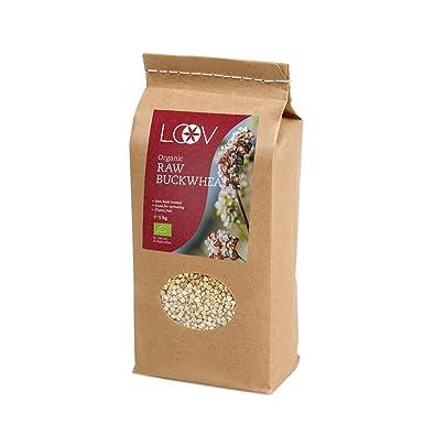 Semillas de trigo sarraceno orgánico crudo sin gluten (1 kg) por Loov, sin tratamiento térmico, todos los nutrientes se conservan, cultivado ...