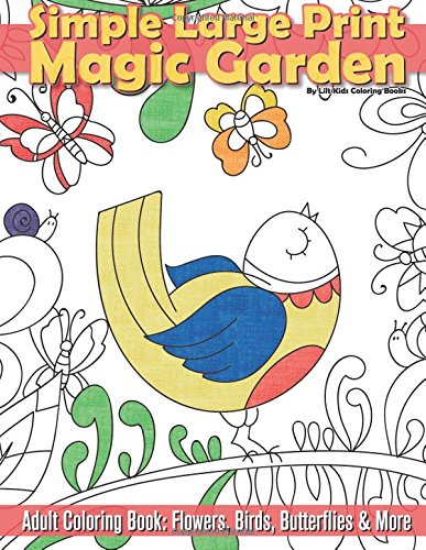 Simple Large Print Garden Coloring product image