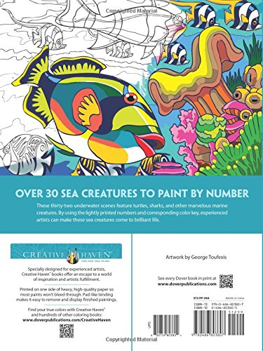 Creative Haven Sea Life Paint by Number (Adult Coloring)