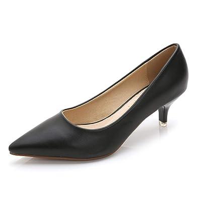 ea5af0f215b6e Amazon.com | Woman Shoes Genuine Leather Inside Low Heels Pumps ...