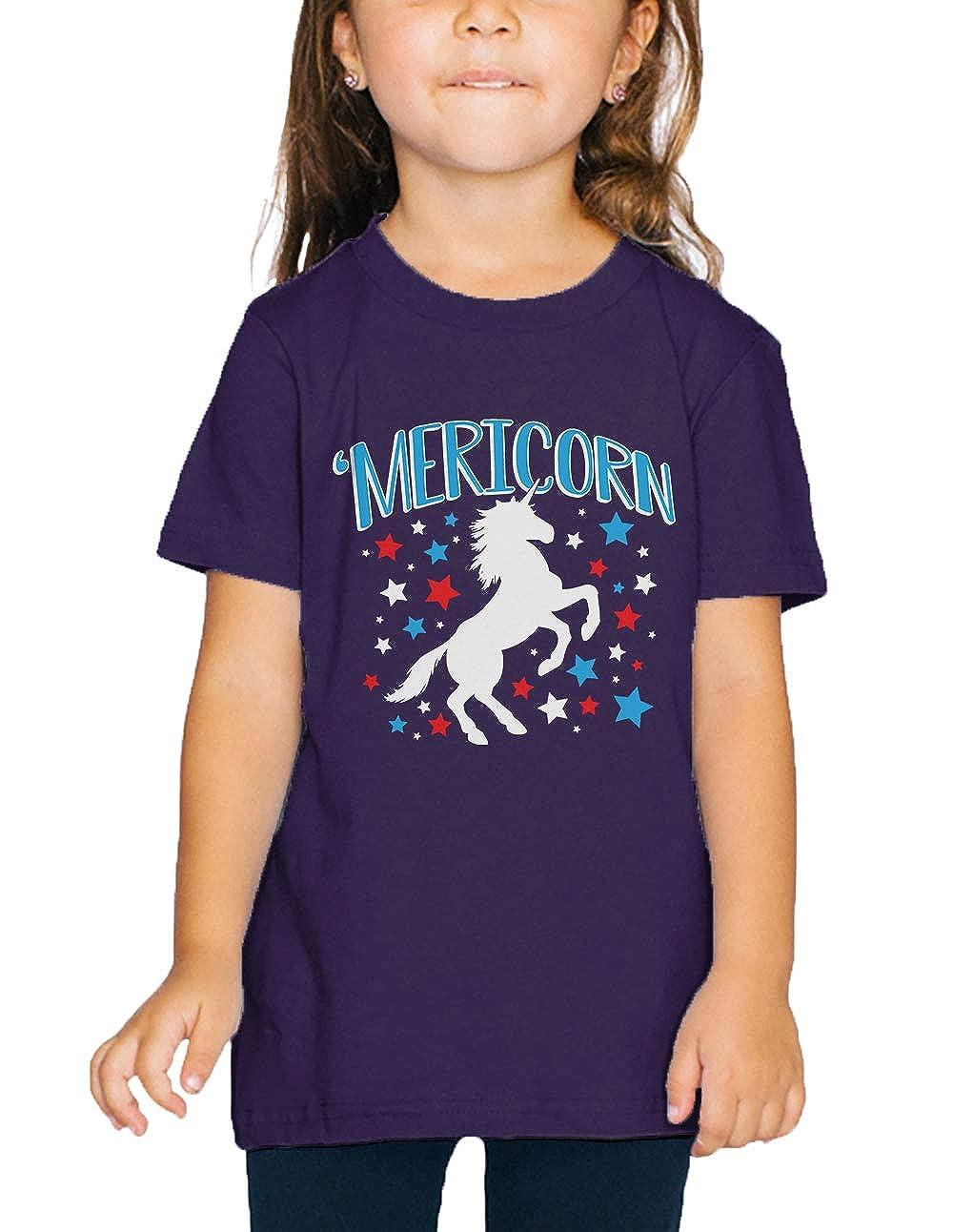 American Unicorn Spirit Animal Toddler T-Shirt SpiritForged Apparel Mericorn