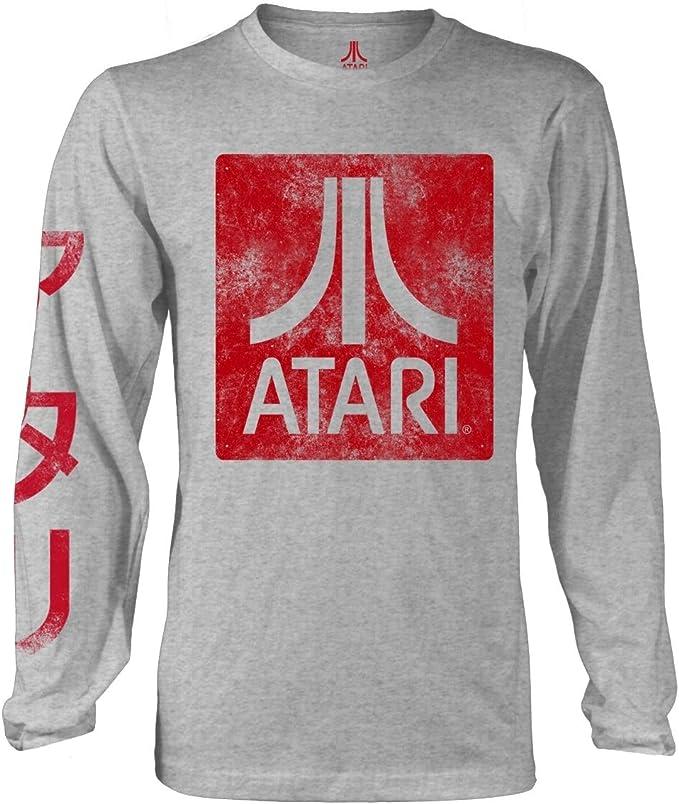 Atari Long Sleeve Grey Sweatshirt with Red Logo