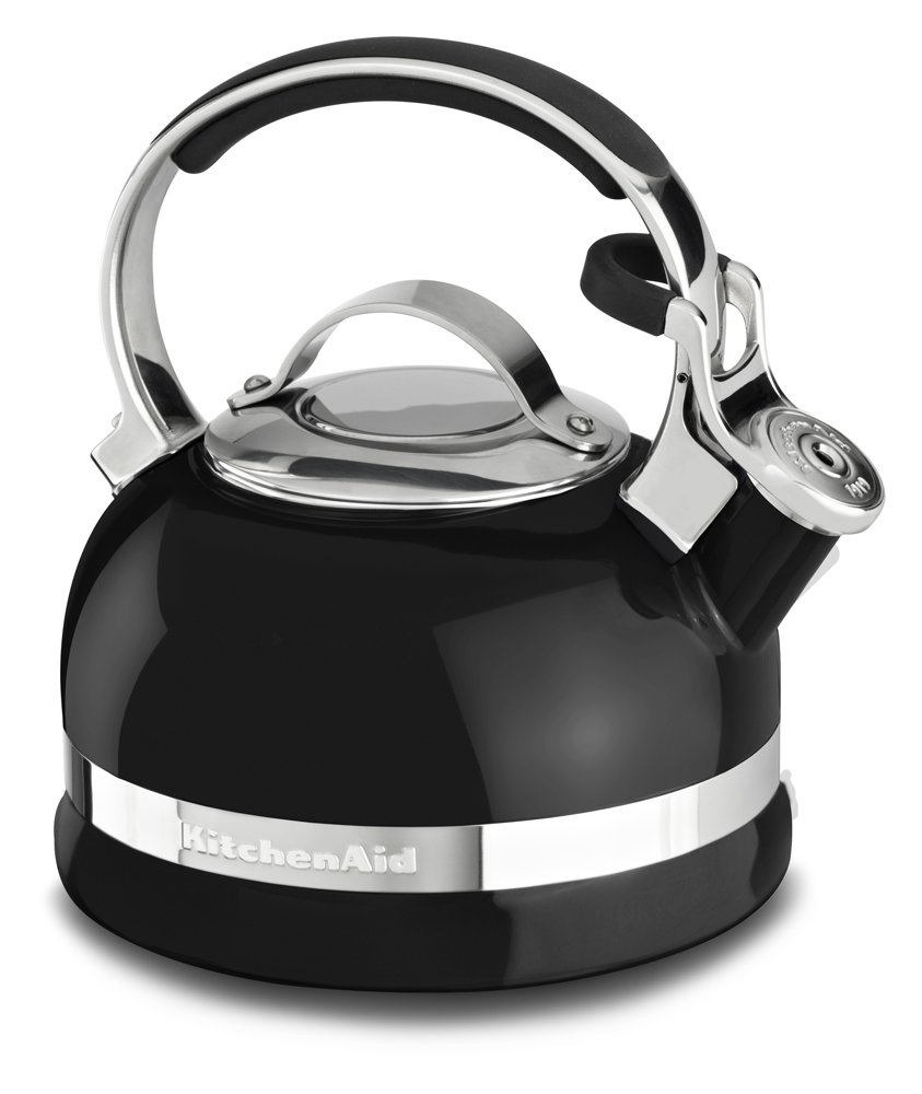 KitchenAid KTEN20SBOB 2.0-Quart Kettle with Full Stainless Steel Handle and Trim Band - Onyx Black