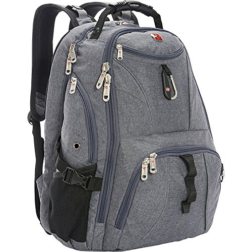 Travel Outdoor Computer Backpack Laptop Bag (Grey) - 2