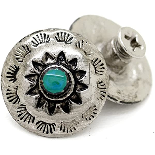 20-BOW   SHAPED SLOTTED SILVER  CONCHOS 1 1//4 X  1 5//8  CRAFTS LEATHERWORK