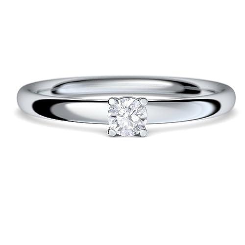 De circonita like Swarovski de diamante anillos de compromiso con piedra