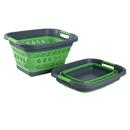 Amazoncom DEWEL Collapsible Laundry Basket Space Saving Foldable