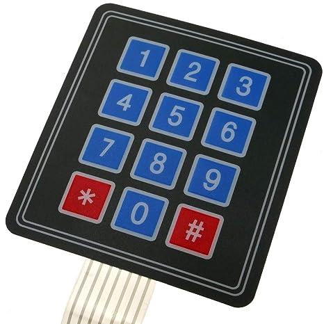 BeMatik - Teclado de 12 Teclas de Membrana DWT-0263