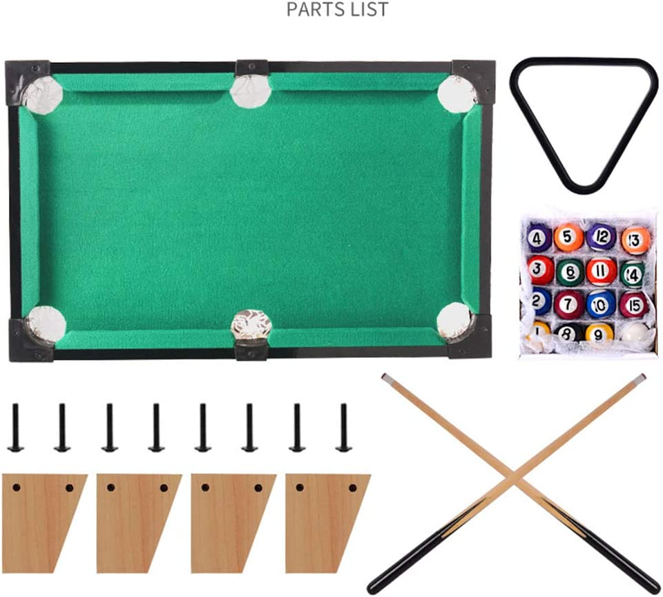 Mesa Mini Billar de Billar, Billar Infantil en 3 tamaños de Taco y Billar Rack, Adecuado para Sala de Juegos, Centro Comercial, Bar, Fiesta: Amazon.es: Hogar