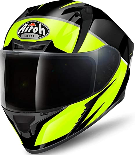 Airoh Helm Valor Eclipse Yellow Gloss Xl Auto