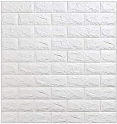 10Stk//Set 60*30cm Schaum Wand Deko Wandaufkleber 3D Ziegelform Hintergrundbild