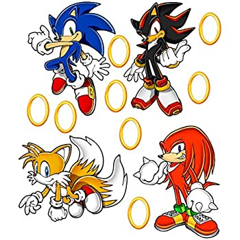 amazon com sonic the hedgehog tails knuckles and shadow removable