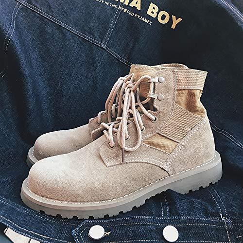 ZyuQ Herrenstiefel Herbst und Winter Stiefel männer und Frauen Retro Werkzeug Stiefel hübscher Martin Stiefel Outdoor hohe Schuhe Schuhe Stiefel
