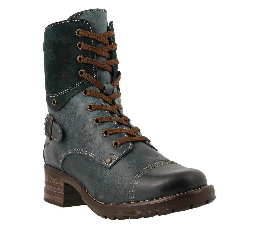 Taos Women's Crave Combat Boot, Teal, 38 EU/7-7.5 M US