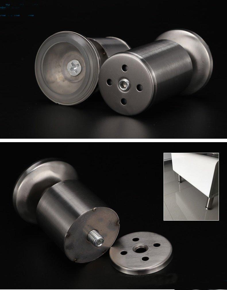 KFZ Hot Slae Cabinet Feet Sofa Leg Adjustable Table Feet JD-DJG019 Stainless Steel Furniture Hardware (1,H10cm/3.94'')