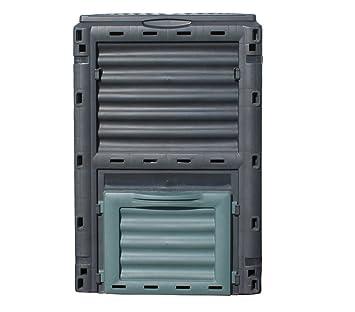 Dehner Gute Wahl Compostador térmico, 300 l, aprox. 80 x 65 x 65 cm, material plástico, negro y verde: Amazon.es: Jardín