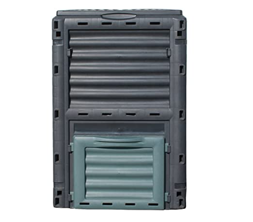 Dehner Gute Wahl Compostador térmico, 300 l, Aprox. 80 x 65 x 65 ...