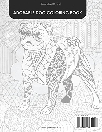 Adorable Dog Coloring book: Adults Coloring Book Stress Relieving ...