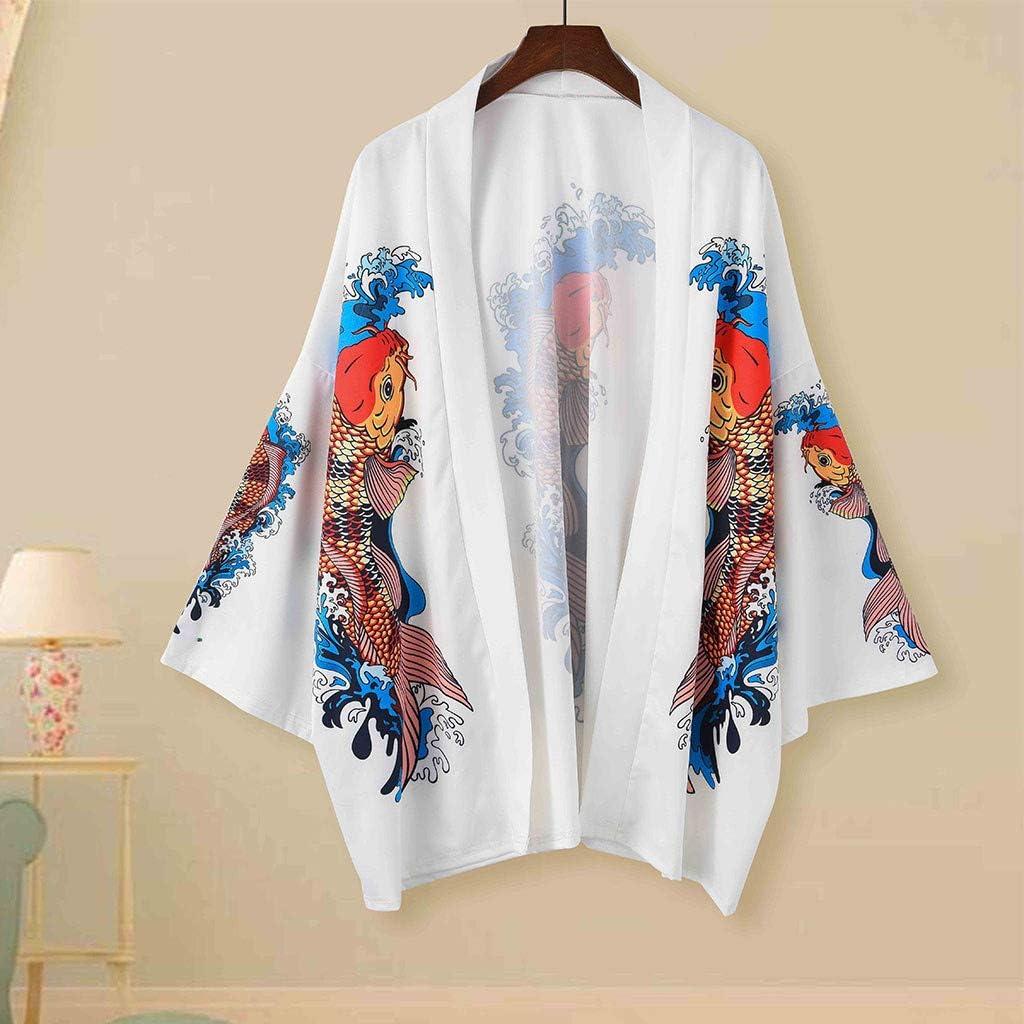 Mr.Macy Lovers Fashion Retro Robe Loose National Print Short Sleeve T-Shirt Top Blouse