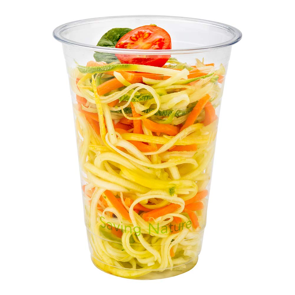 16-OZ PLA Plastic Cup - Clear Cold Drinking Cup: Perfect for Juice Shops, Delis, Restaurant Takeout - Compostable and Biodegradable - 1000-CT - Basic Nature Collection - Restaurantware by Restaurantware