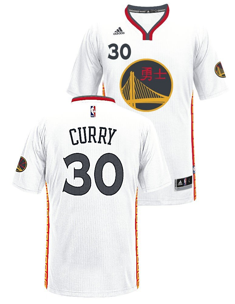 new concept 78b90 fb1a5 adidas Stephen Curry Golden State Warriors Pride Swingman Jersey (White)