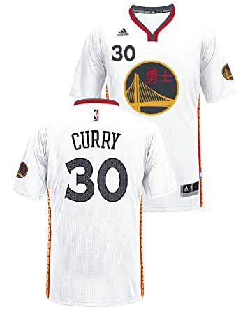 new concept ba1f2 706aa adidas Stephen Curry Golden State Warriors Pride Swingman Jersey (White)