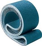 PFERD 49790 Benchstand Abrasive Belt, Zirconia Alumina Z, 48'' Length x 2'' Width, 80 Grit (Pack of 10)
