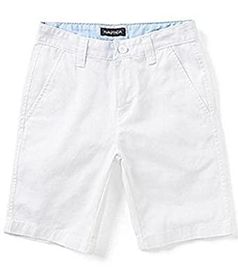 vast selection unequal in performance amazing price Amazon.com: Nautica Boys Flat Front White Shorts Size 10 ...