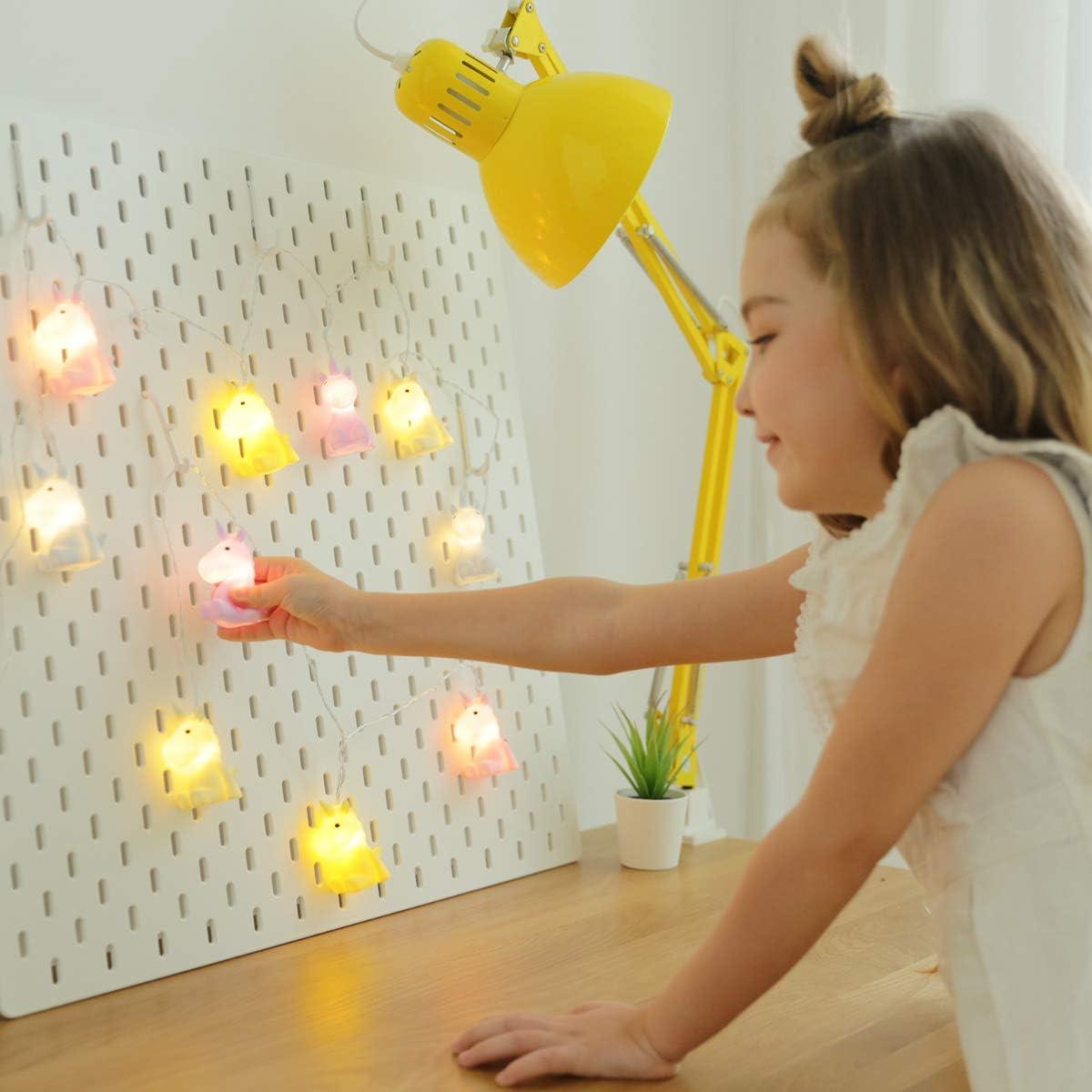S/ü/ße Nachtlicht Minilichterkette f/ür Kinder mit warmwei/ßem Licht Lichter Kette Navaris LED Lichterkette Alpaka Design 2m L/änge Creme