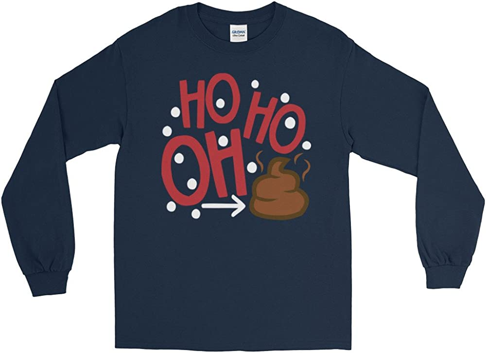 Christmas HO HO HO Santa Long Sleeve T-Shirt by Arkansas made HO HO OH Poop