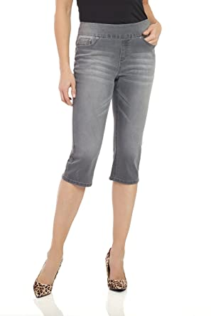 75eac776bea2 Rekucci Womens Ease in to Comfort Fit Stretch Jean Capri at Amazon ...
