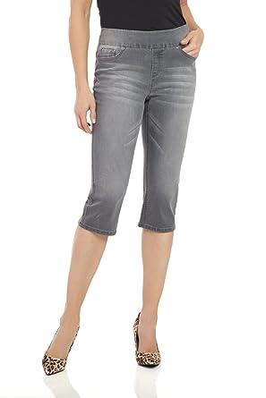 15e3ab95ff3 Rekucci Womens Ease in to Comfort Fit Stretch Jean Capri at Amazon ...