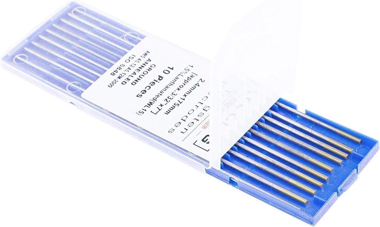 2 pi/èces 1,5/% de Lanthane 2 pi/èces 2/% de C/érium SenTECH TIG Soudage mixte 1,0 x 150mm /Électrode en Tungst/ène 2 pi/èces 2/% de Thorium 2 pi/èces 2/% de Lanthane 2 Tungst/ène Pur