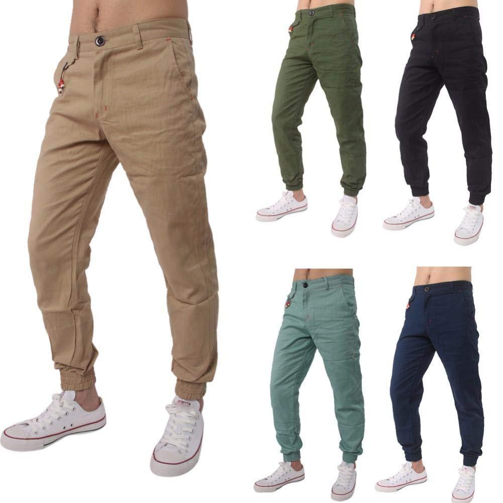 Realdo Clearance Casual Slack Solid Harem Sweatpants Loose Jogger Pant Sportwear Comfy for Men(XXX-Large,Khika)