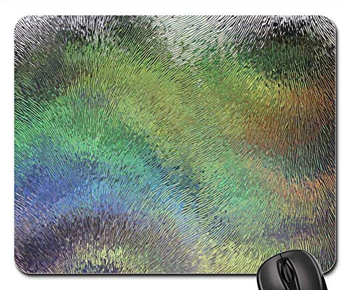 SYMSPAD Mouse Pad 8.6 X 7.1 ins - Frosted Glass Background Psychedelic Art Pattern