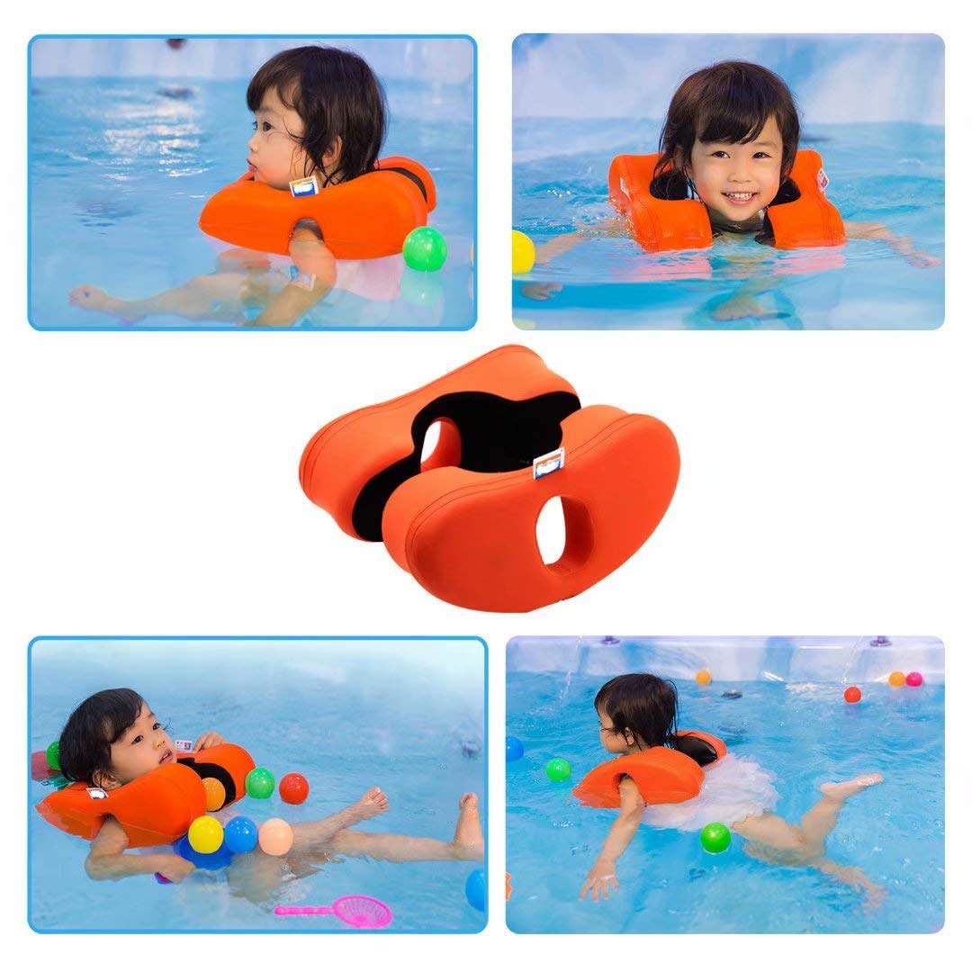 qiaoniuniu Infant Float for Pool No Need to inflate Holding The Babies Shoulder Toddler Swimming Freely for 2-5 Years