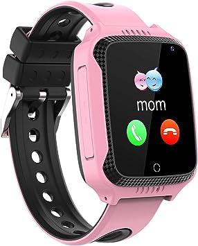 PTHTECHUS Smartwatch Para Niños, GPS Reloj Inteligente Niño Niña ...