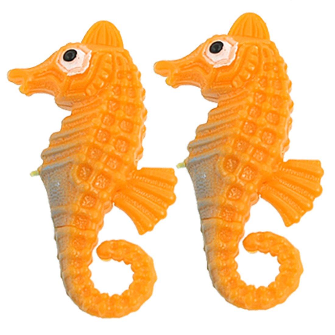 Jardin Jardin Jardin Emulational Nuoto 2-Piece Seahorse Ornamento per Acquario, Arancione 7af3aa