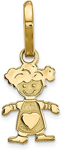 Pendants Children and Baby Charms 10K Yellow Gold Teddy Bear Charm Pendant