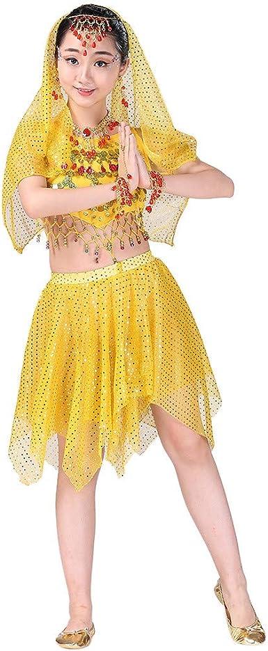 YWLINK Falda De Baile, NiñOs India Danza del Vientre Danza Egipcia ...