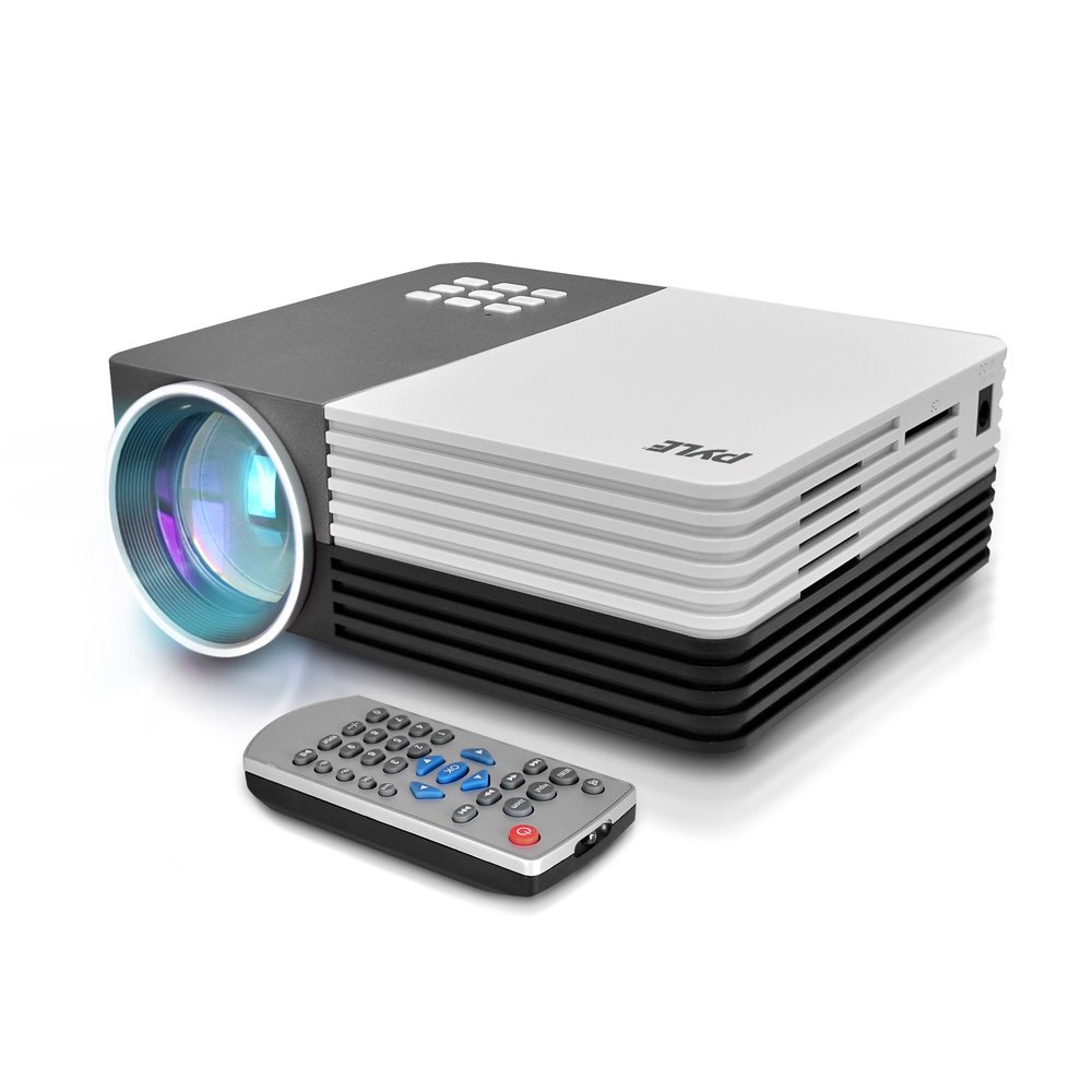 Pyle Video Projector 1080p Full HD Professional Cinema Home Theater - Digital Multimedia, Built-in Stereo, Adjustable Keystone Picture Presentation Projection and Supports USB, VGA & HDMI - (PRJG65)