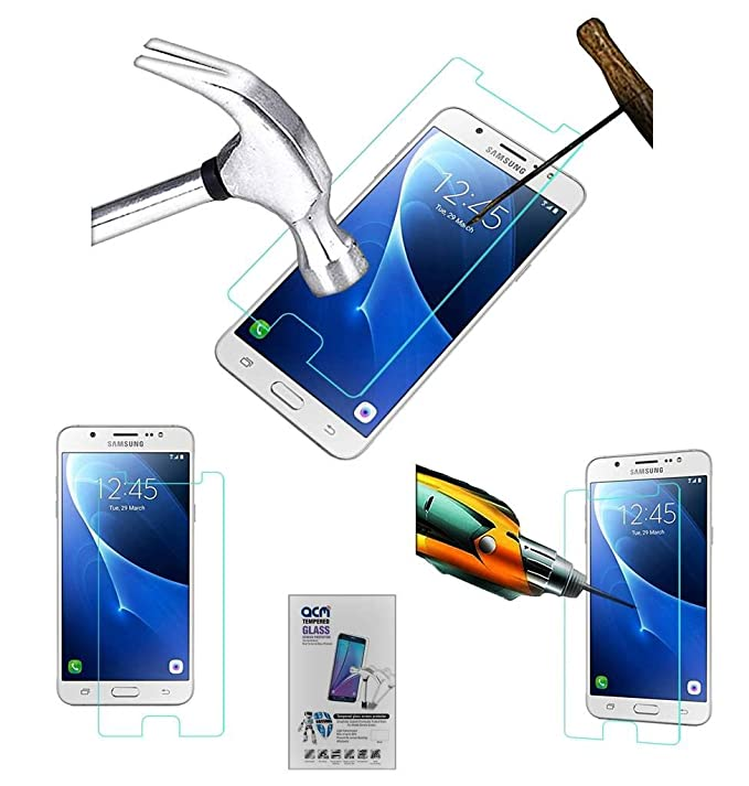 Acm Tempered Glass Screenguard Compatible with Samsung Galaxy J7 6  2016  Screen Guard Scratch Protector