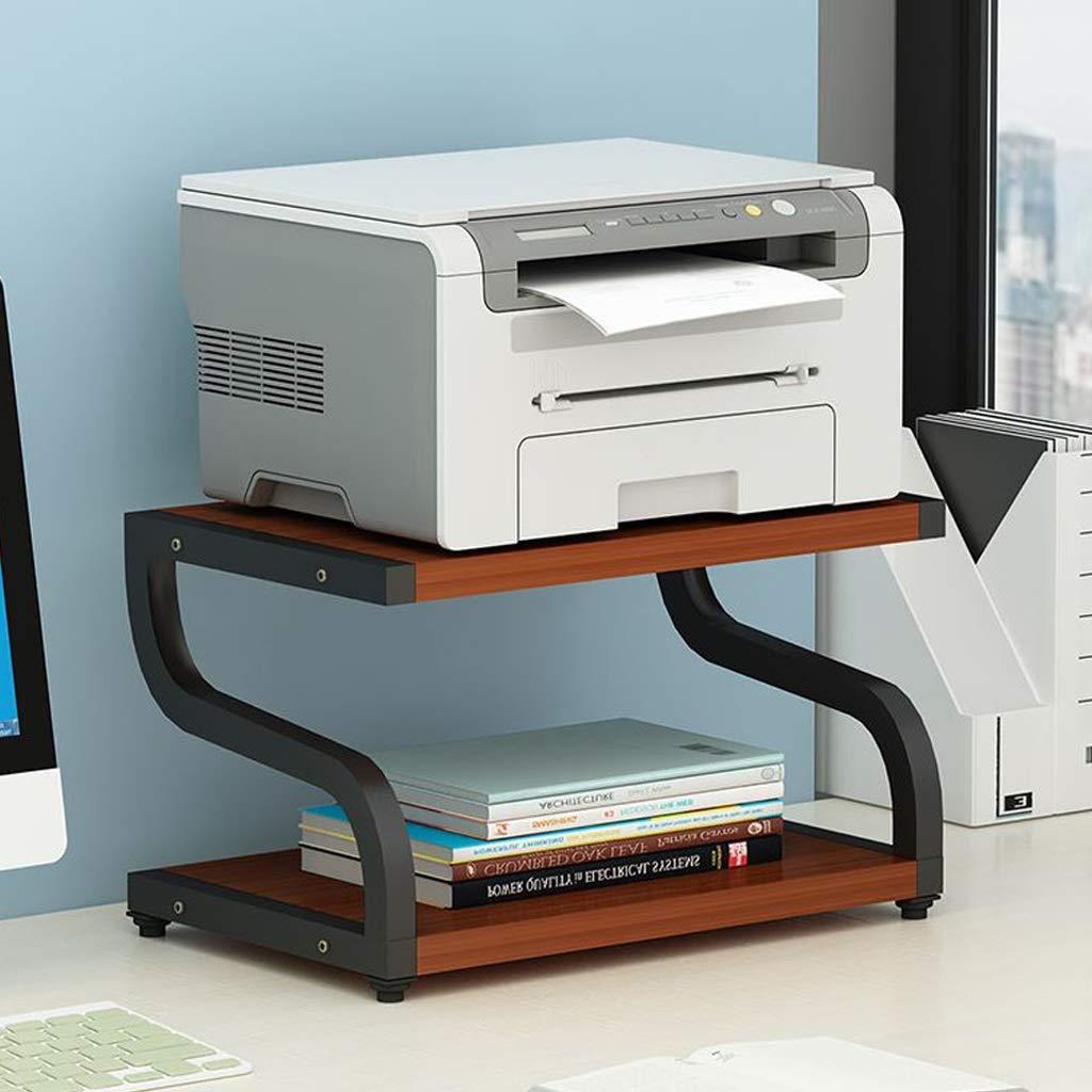 Printer Stands Printer Shelf//Rack Floor Multi-Function Desk Computer Printer Cabinet Simple Bracket Bracket Wooden Storage Office File Shelf Color : Black, Size : 42x28x30cm