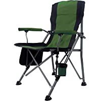 JOYWAY-Blue carbon Portable Camping Chair Folding Heavy Duty Quad Outdoor Large Chairs Support 140KG High Back Padded…