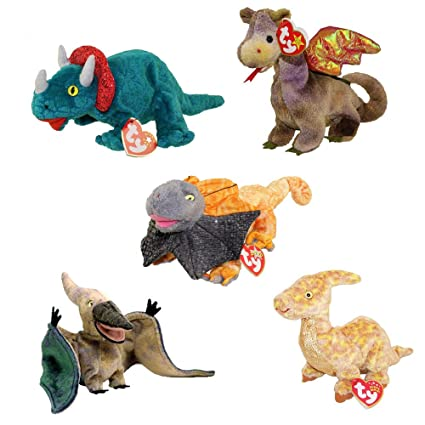 Image Unavailable. Image not available for. Color  TY Beanie Babies -  DINOSAURS ... 6b89b9bbb4b7